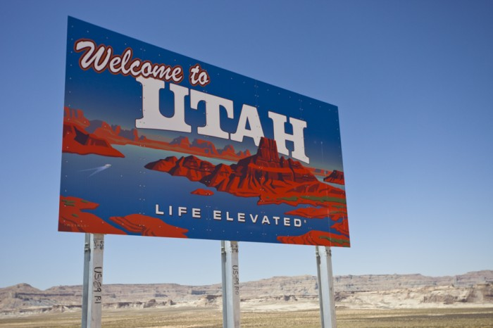 2016 Utah festival road map sign