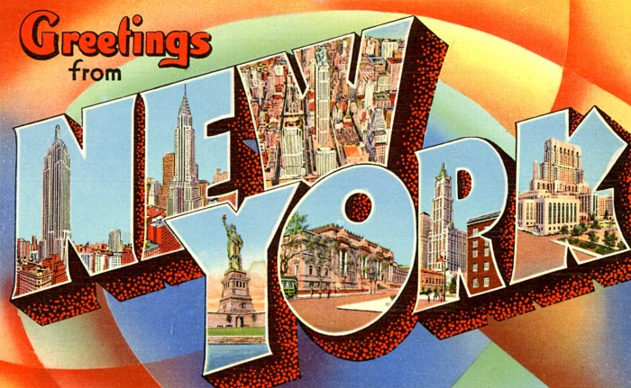 New York August 2016 festival postcard