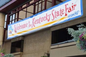 Kentucky state fair welcome sign
