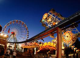 California state carnival rides at night