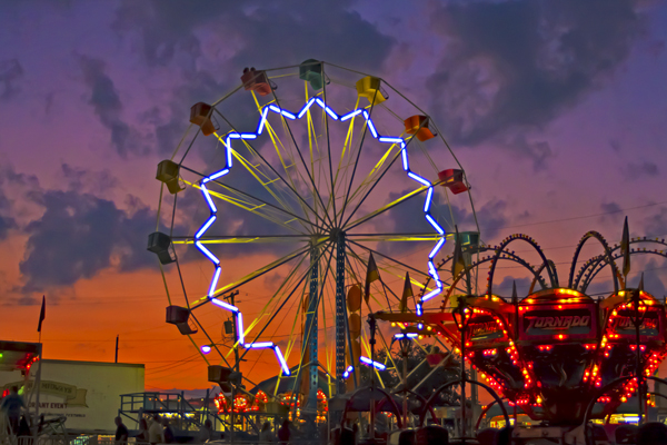 2016 Grant County Fair image midway ferris wheel