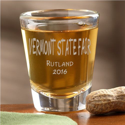 2016 Vermont State Fair shot glass prize